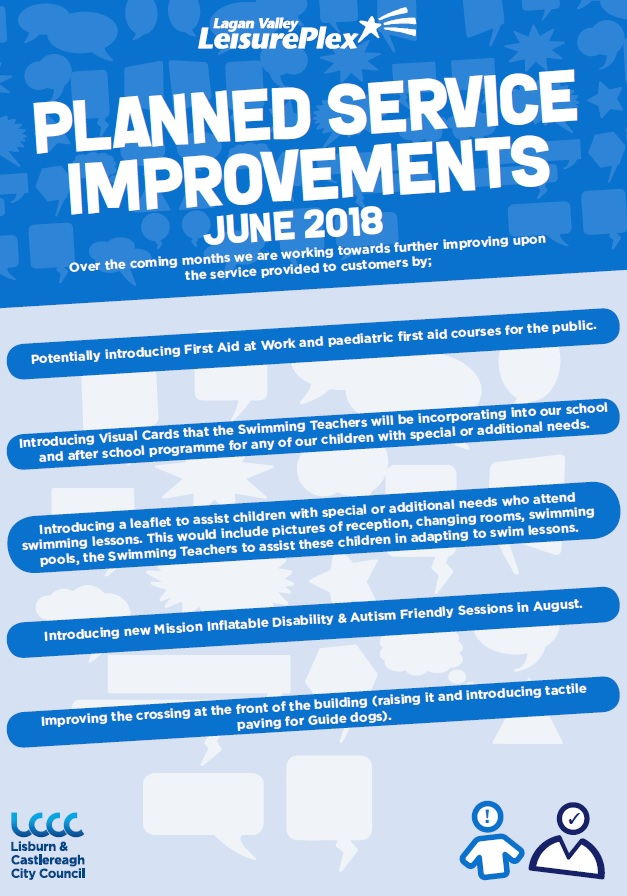 Planned Service Improvements, Lagan Valley LeisurePlex