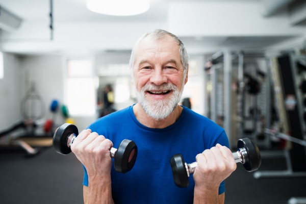 Older Gentleman Lifting Weights