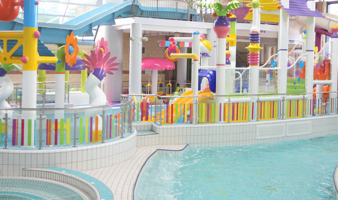 Kids swimming pool play area