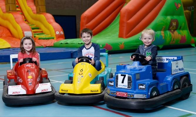 Boy on go-kart