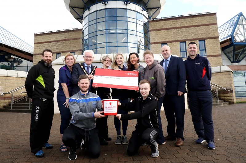 Staff at Lagan Valley LeisurePlex raise over £600 for Mayor's Charity